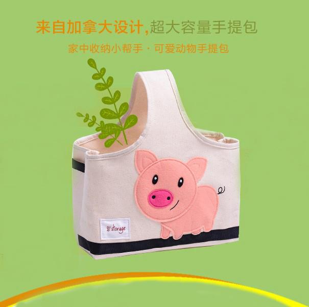 妈咪手提包多功能收纳包卡通玩具收纳箱旅行洗漱包带饭午餐饭盒袋