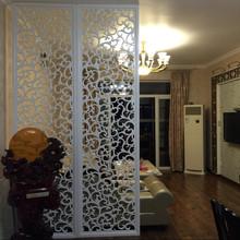 定制实木屏风镂空欧式花格隔断吊顶背景墙现代密度板雕花板通花板