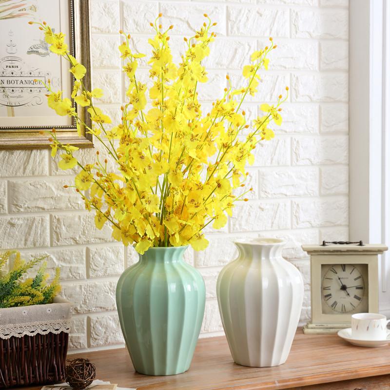 北欧美式陶瓷插花花瓶欧式简约客厅干花器复旧怀旧家居装饰品摆件