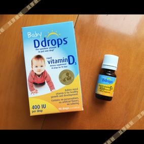 加拿大进口加版Baby Ddrops婴儿维生素D3宝宝VD400IU促进钙吸收
