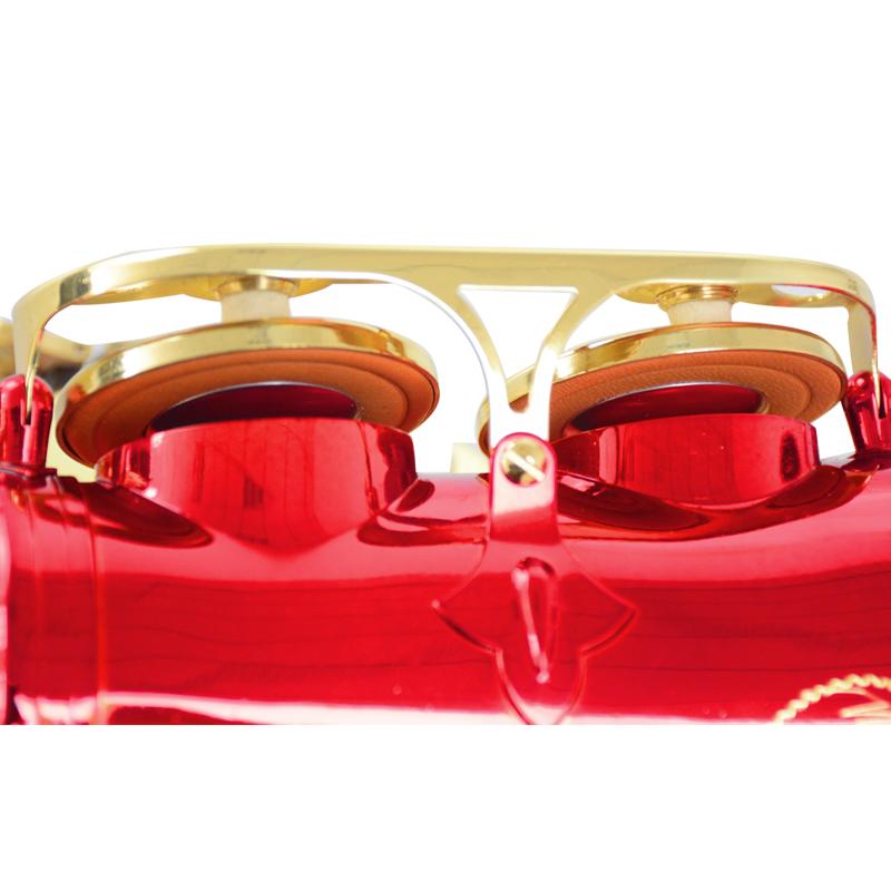 调中音萨克斯风管红身金键手工雕花包邮 E 亨韵乐器降