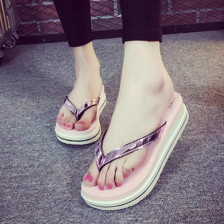 防滑拖鞋沙滩休闲耐磨增高 人字拖韩版新夏季