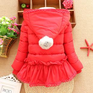 新款童装冬装女童加厚羽绒棉棉衣棉袄小童外套上衣女宝宝棉服