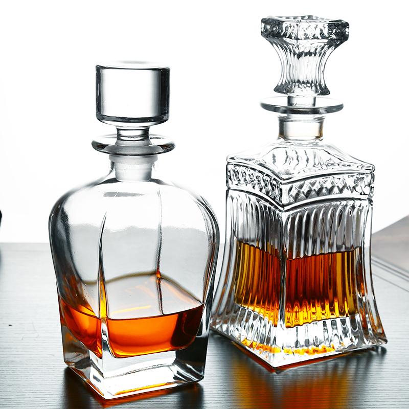 欧式红酒醒酒樽器水晶玻璃洋酒瓶家用威士忌分酒器快速倒酒壶酒具
