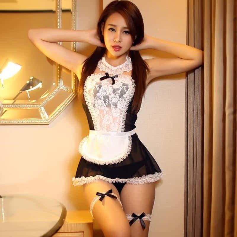 制服诱惑qqny情趣内衣性感女仆大码蕾丝短裙可爱女佣