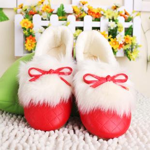 秋冬保暖豆豆鞋平底棉鞋