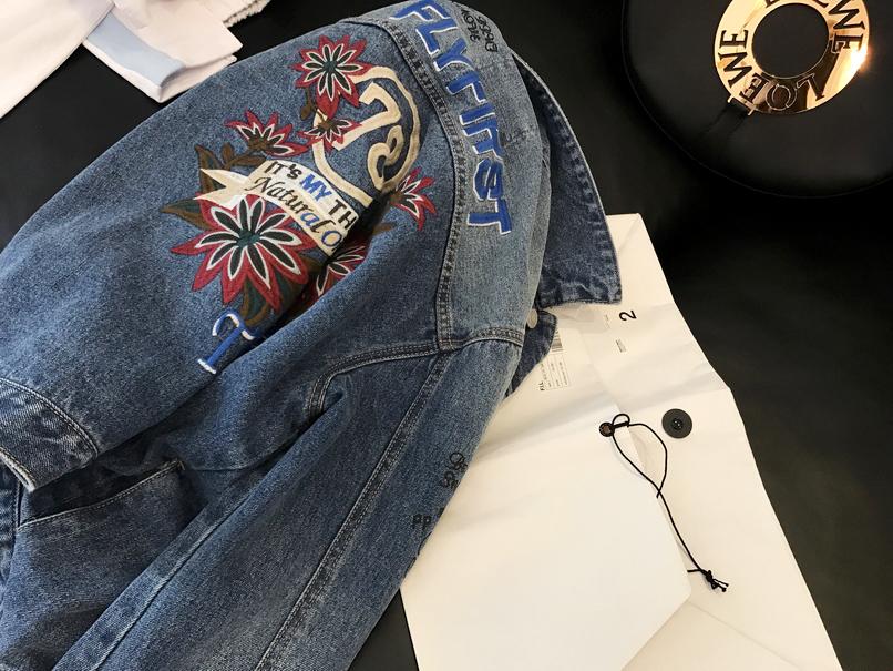 牛仔外套自留本年度定制值得入手林林家刺绣