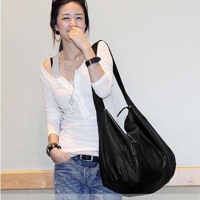 2017新款韩版潮软皮休闲简约大容量单肩包侧背包大包包女包手袋51