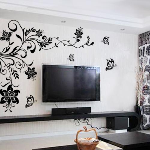 背景墙简约墙贴贴画 超大电视背景墙贴贴纸