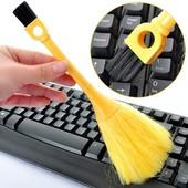 多功能小刷子缝隙扫尘刷电脑键盘除尘刷两头多用桌面清洁软毛刷