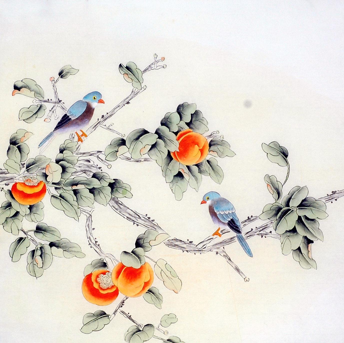 JY251蒋艳梅四尺斗方纯手工笔花鸟办公室客厅装饰国画