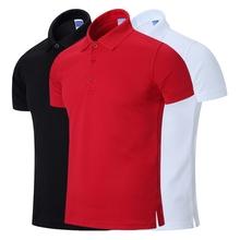 夏季纯色polo衫男短袖翻领T恤宽松大码男装保罗衫半袖体恤大红色