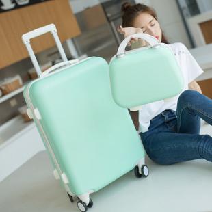行李箱女韩版小清新拉杆箱20万向轮22旅行24密码子母箱皮箱包26寸