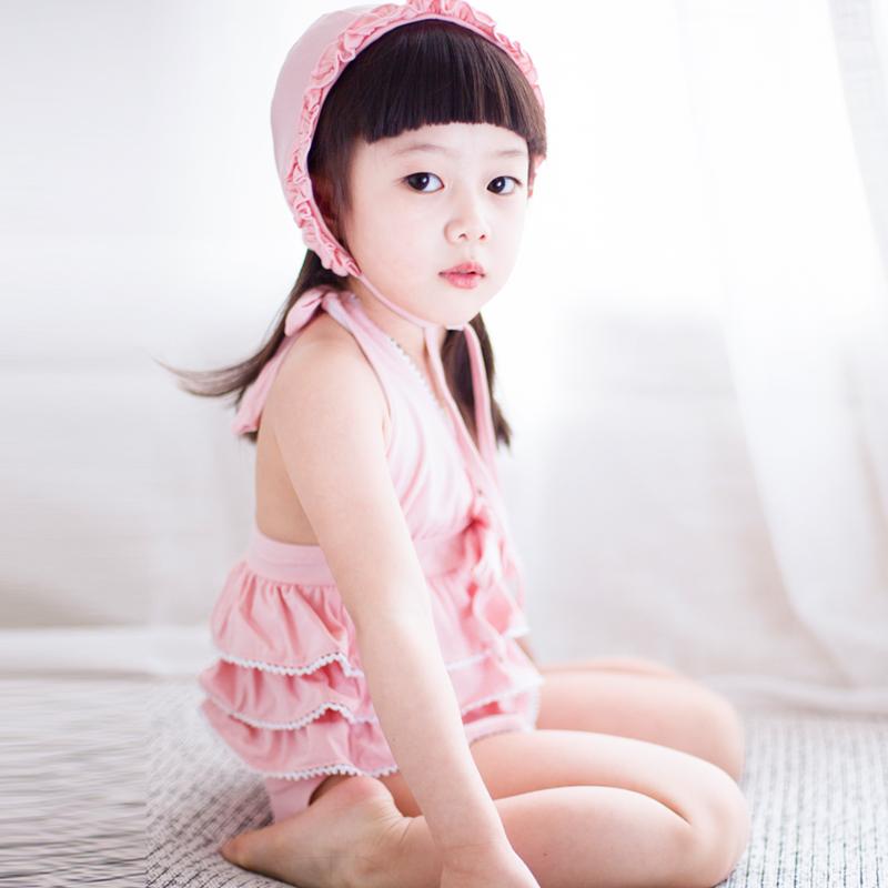 儿童泳衣 女孩分体韩国可爱宝宝婴儿萝莉款裙式游泳衣比基尼泳装