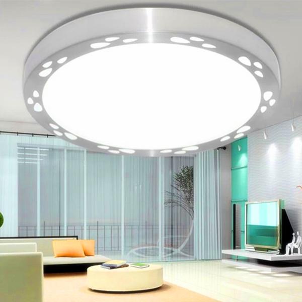 铝材LED吸顶灯现代简约卧室灯客厅灯阳台厨卫灯餐厅灯饰节能灯具