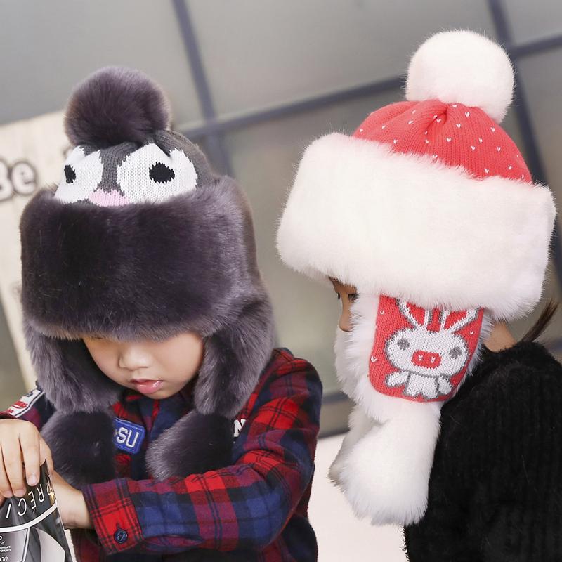 冬天儿童帽子女士冬季雷锋帽护脖加厚保暖男棉帽骑车防风防寒护耳