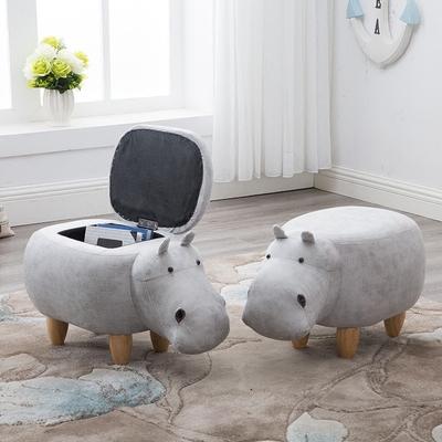 实木脚凳创意河马换鞋凳沙发凳设计师家具储物矮凳试鞋凳收纳脚凳