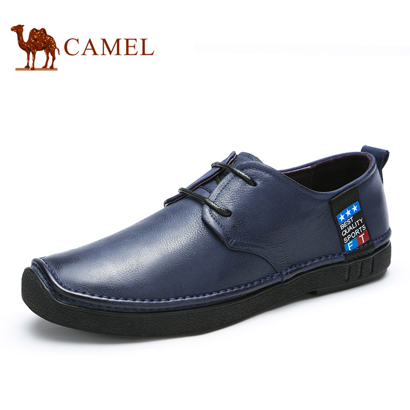 Camel/骆驼男鞋 头层牛皮休闲皮鞋日常休闲鞋男潮鞋 2016春季新款