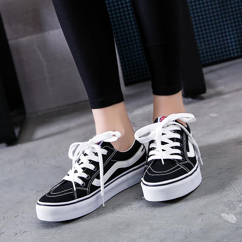 女学生休闲鞋帆布鞋春季百搭板鞋韩版潮低帮鞋子