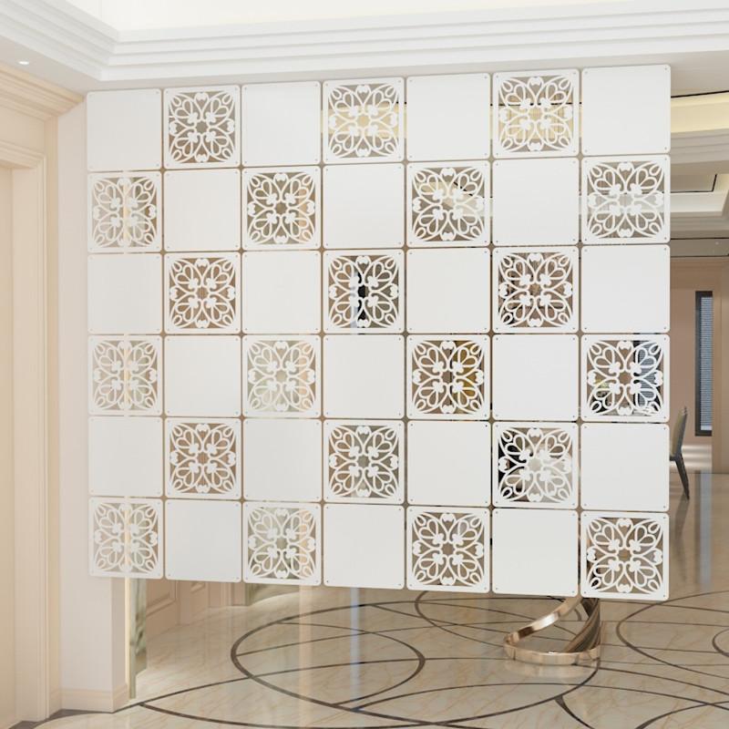 欧式挂式方形屏风软玄关隔断时尚餐客厅卧室挂帘雕花