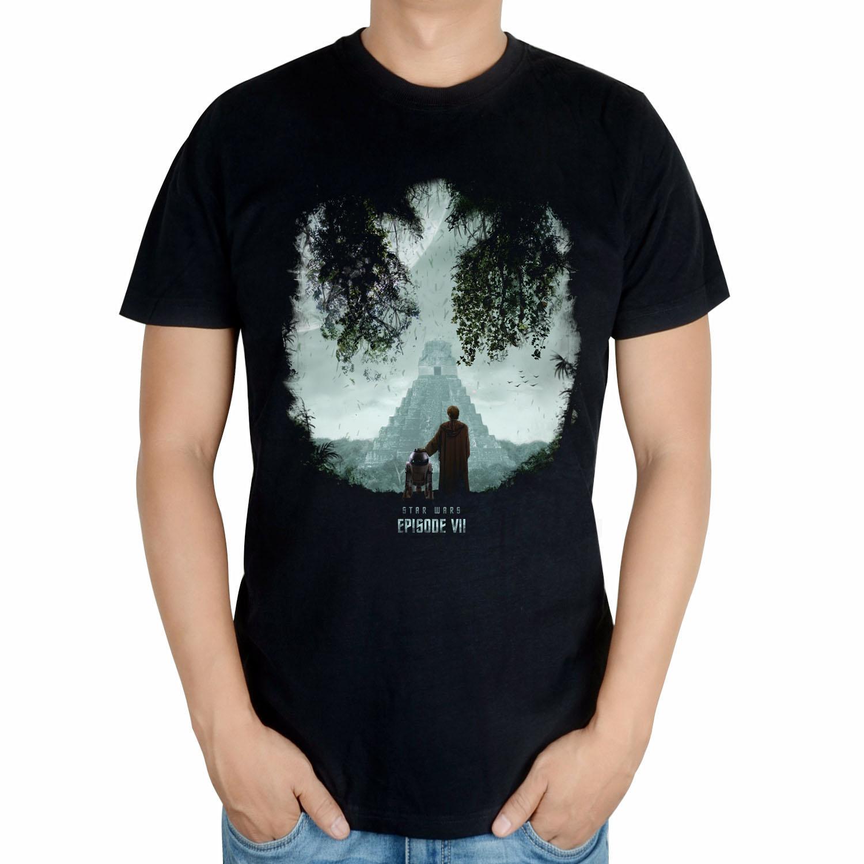 星球大战Star Wars 7原力觉醒 达斯摩尔光剑 纯棉男士T恤