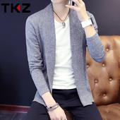 春秋季韩版毛线衣男士薄款长袖针织衫开衫百搭毛衣男青年外套潮