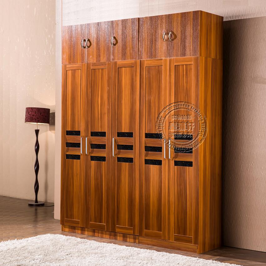 组合衣柜住宅家具加高木衣柜两门三门四门大衣柜特价