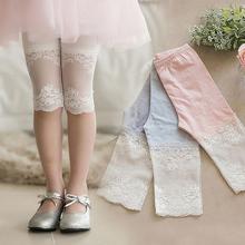 新薄款 纯棉儿童女宝宝外穿蕾丝五七分打底短裤 夏季装 女童裤