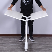 正方形饭桌 折叠桌子餐桌家用小4人简易多功能2木方桌可吃饭圆形