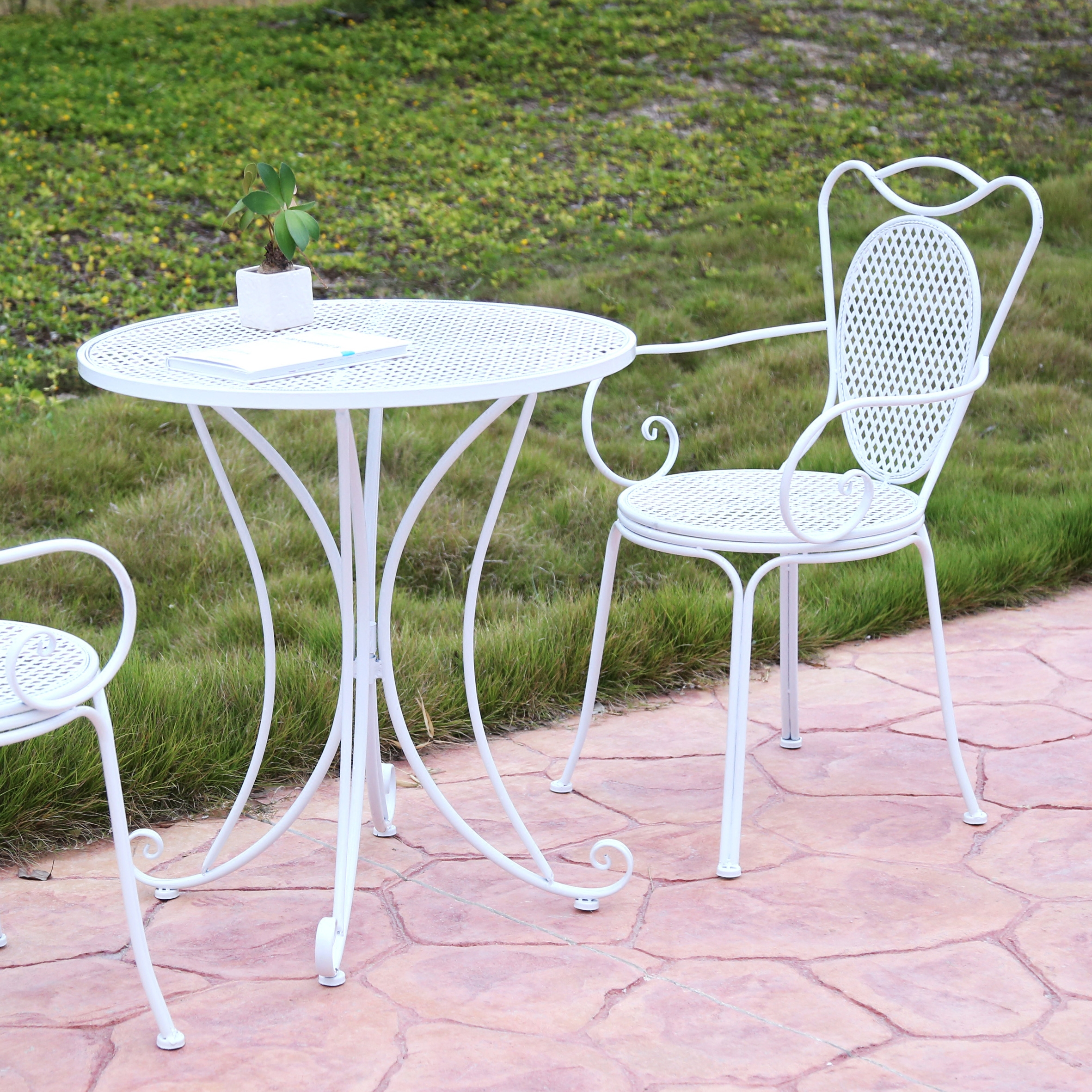 户外桌椅铁艺三五件套圆桌组合家具茶几阳台咖啡厅
