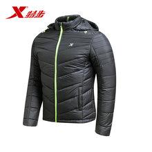男子厚棉服舒适防风保暖男子室外运动厚棉服外套上衣 特步官方正品