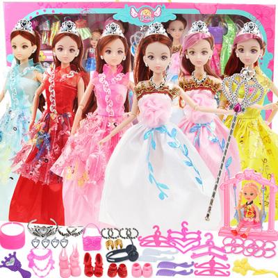 换装洋芭芘比娃娃套装大礼盒婚纱公主女孩玩具过家家儿童生日礼物