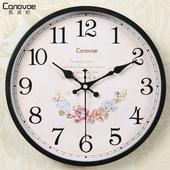 凯诺时欧式挂钟 客厅钟表卧室静音时钟挂表简约现代田园石英钟表
