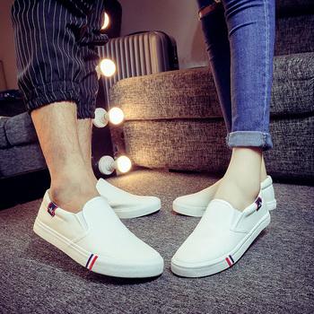夏季娱乐网站白菜网站大全白色套脚布鞋男士帆布鞋