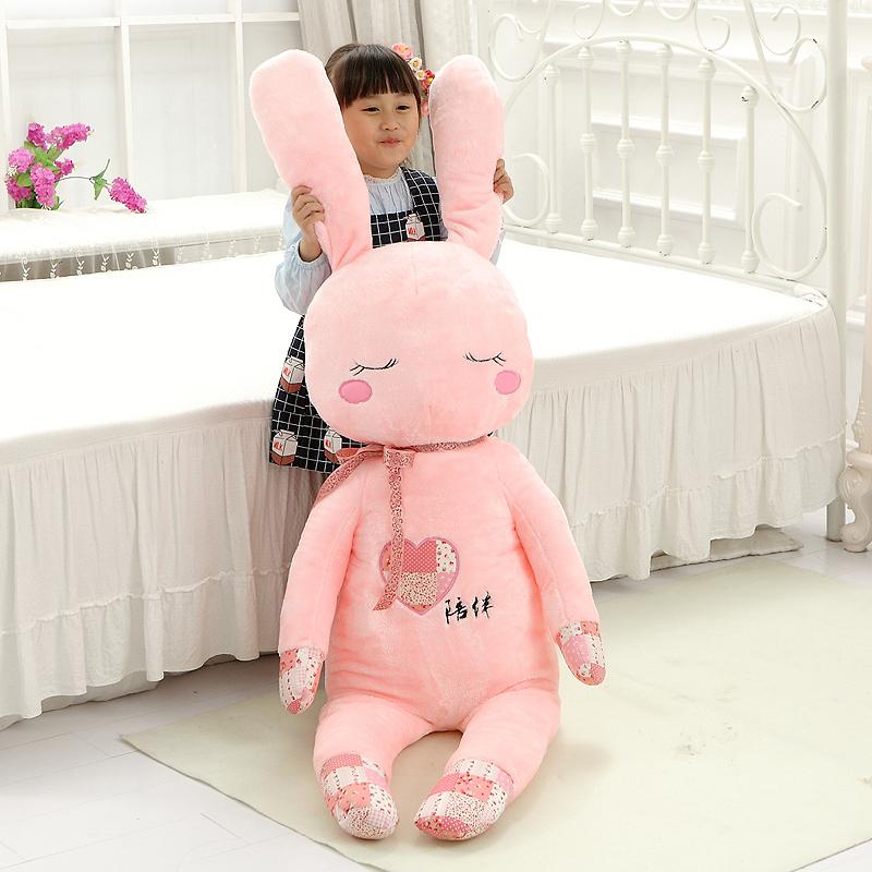 蜗蘼 大号毛绒玩具兔子公仔陪伴兔抱枕布娃娃玩偶创意生日礼物女