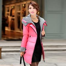 反季促销新款冬韩版装羽绒服女中长款手工钉珠轻薄羽绒衣清仓