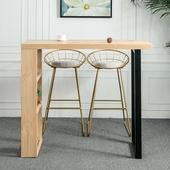简易实木吧台北欧客厅隔断家用吧台桌厨房美式乡村靠墙酒吧高脚桌