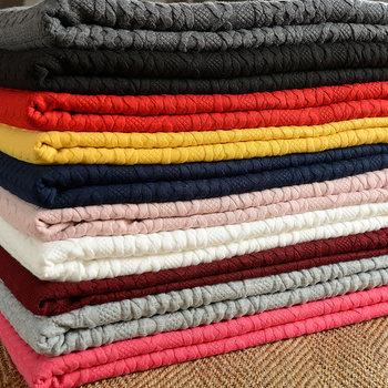全棉针织布料 加厚单面磨毛布料