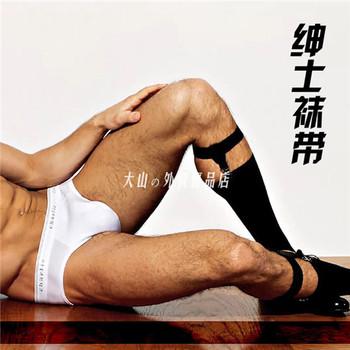 欧美正装男士性感金属吊袜带TNT
