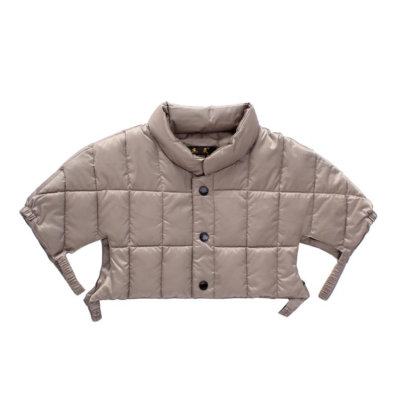 中老年月子男女肩周炎羽絨服防寒保暖秋冬肩部 羽絨護肩