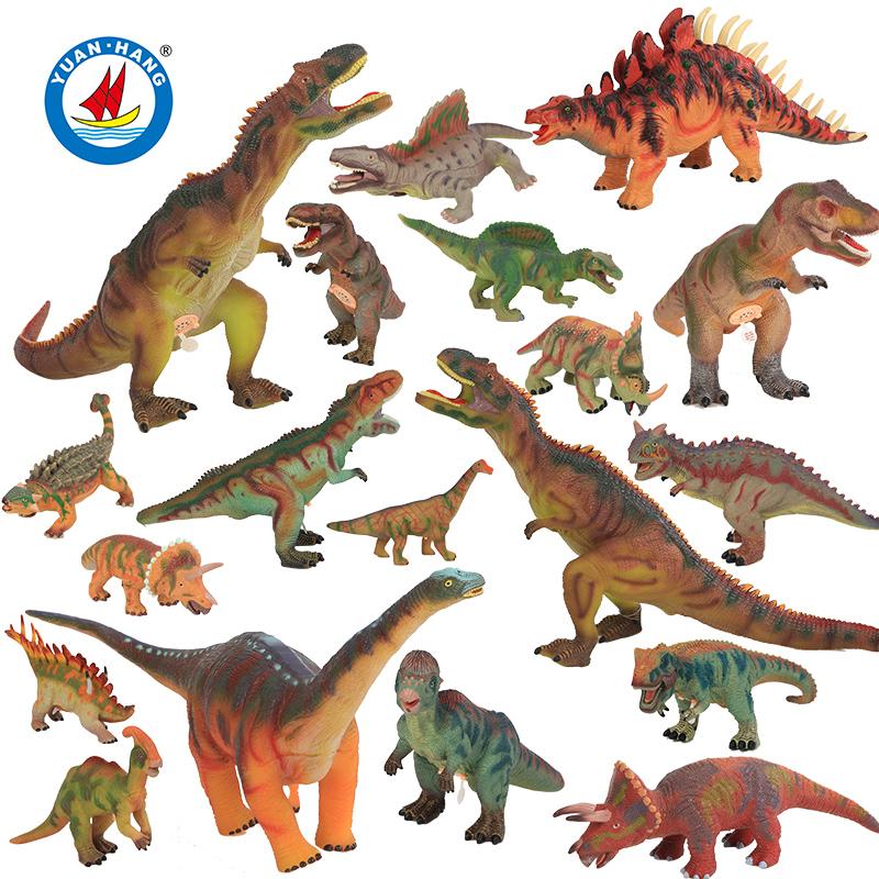 大号充棉恐龙/动物塑胶发声玩具仿真模型儿童玩偶
