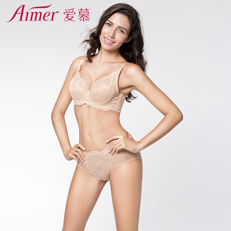 爱慕性感蕾丝花边透明网眼内裤女士轻薄中腰包臀平角裤AM23JE1