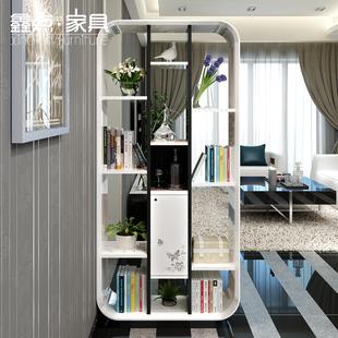 家具 鑫点家具 屏风玄关柜 现代简约隔断柜 钢琴烤漆书架 装饰柜s-g图片