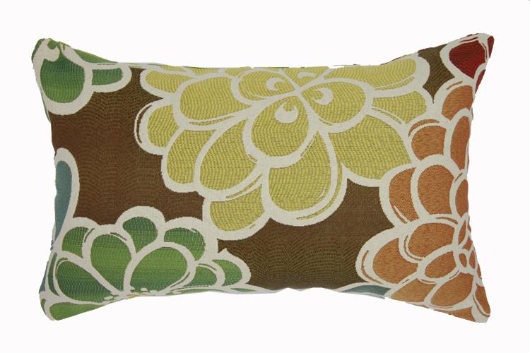 织色家纺简约现代咖啡多彩花朵办公室沙发靠垫靠枕套抱枕腰枕包邮