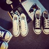 平跟百搭白色帆布鞋女小白鞋秋韩版街拍板鞋休闲鞋学生布鞋情侣鞋