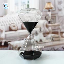 大号30分钟钻石沙漏玻璃礼品客厅家居摆件情人节情侣礼物促销