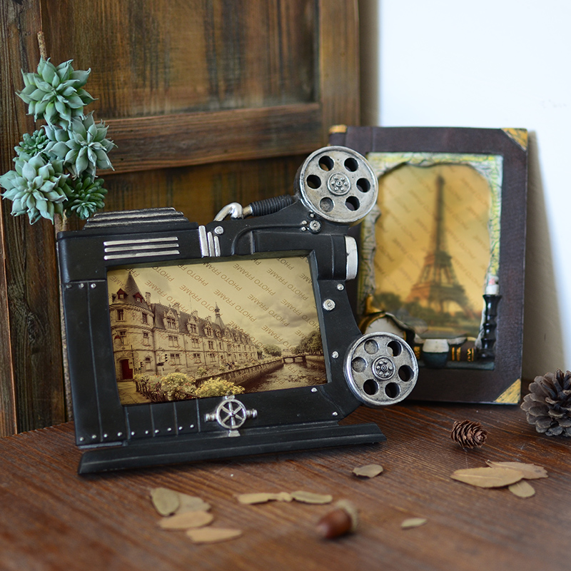 欧式复古怀旧相框摆台创意家居客厅咖啡店铺酒吧办公