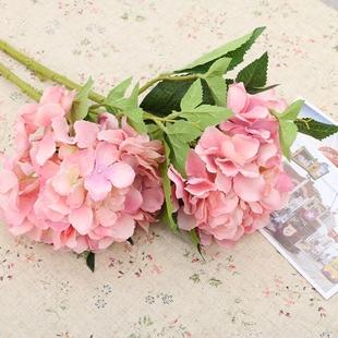 单束客厅餐桌欧式绣球花仿真花艺假花插花套装家居婚庆装饰品摆件