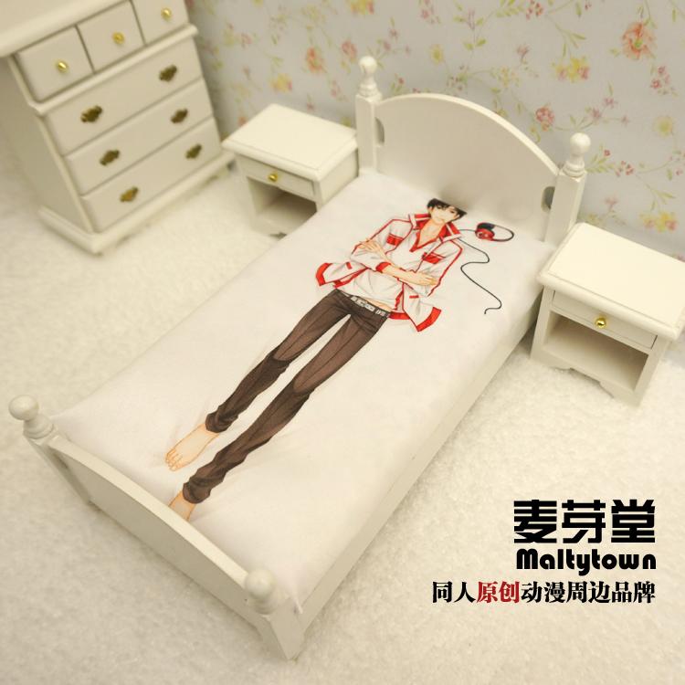 麦芽堂动漫周边全职高手叶修卡通床单毛绒被套空调被子单包邮定制