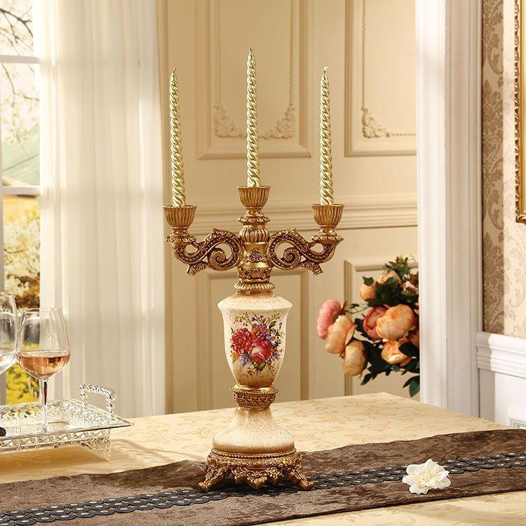 创意蜡烛台工艺品家居饰品家装摆件欧式新婚房装饰品